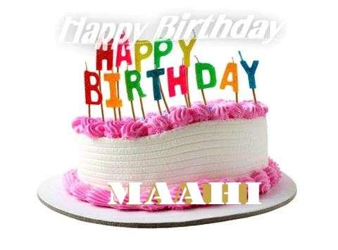 Happy Birthday Cake for Maahi