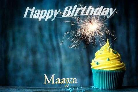 Happy Birthday Maaya Cake Image