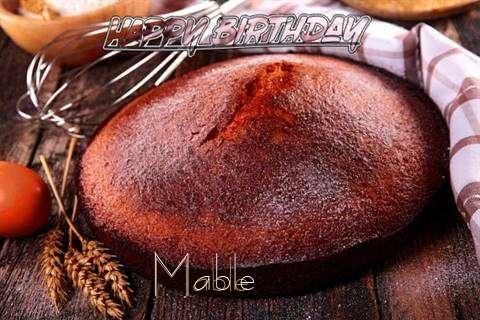 Happy Birthday Mable Cake Image
