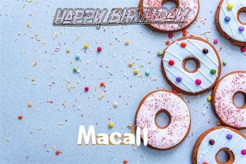Happy Birthday Macall Cake Image