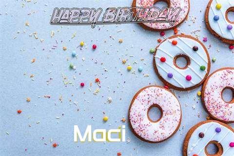 Happy Birthday Maci Cake Image