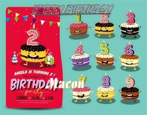 Happy Birthday Macon Cake Image