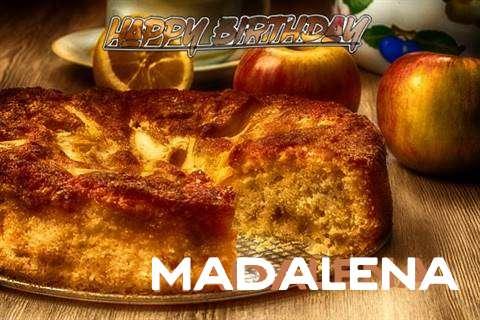 Happy Birthday Wishes for Madalena