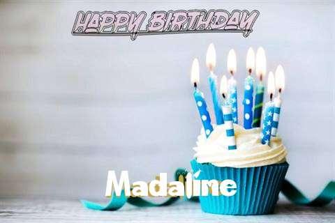 Happy Birthday Madaline Cake Image