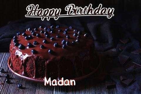 Happy Birthday Cake for Madan