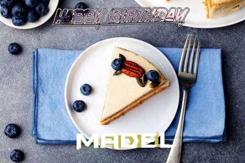 Happy Birthday Madel Cake Image
