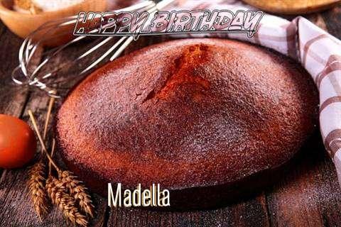 Happy Birthday Madella Cake Image