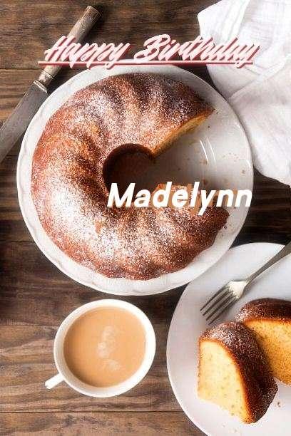 Happy Birthday Madelynn Cake Image