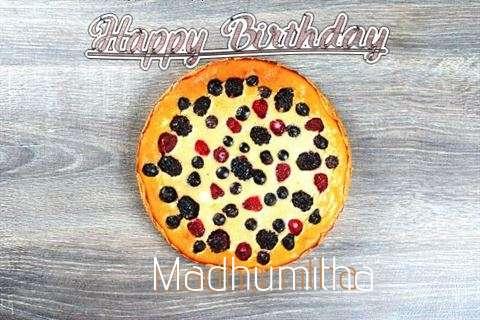 Happy Birthday Cake for Madhumitha