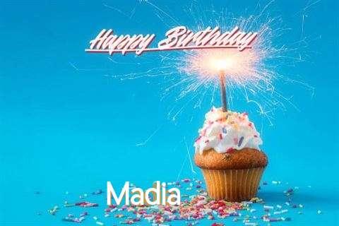 Happy Birthday Cake for Madia
