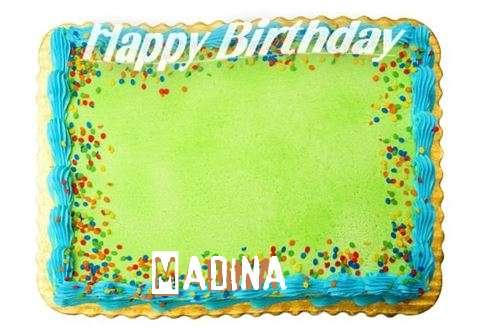 Happy Birthday Madina Cake Image