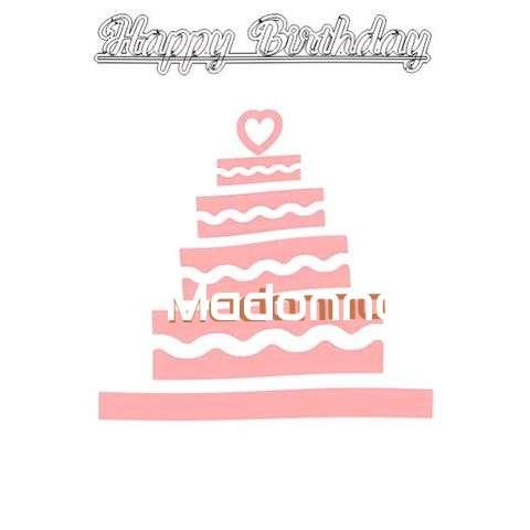 Happy Birthday Madonna Cake Image