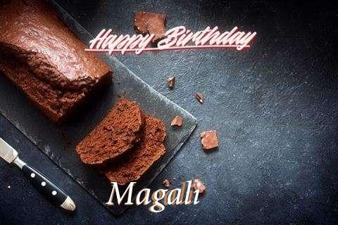 Happy Birthday Magali Cake Image