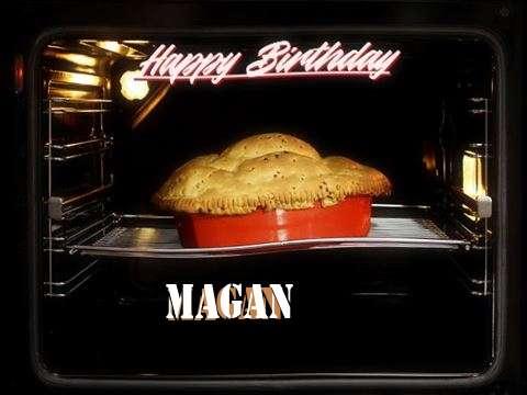 Happy Birthday Cake for Magan