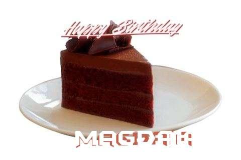 Happy Birthday Magdaia Cake Image