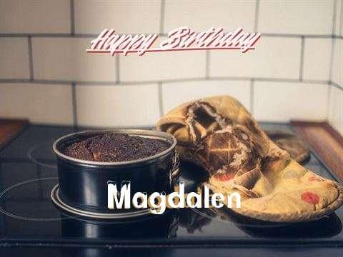 Happy Birthday Magdalen Cake Image