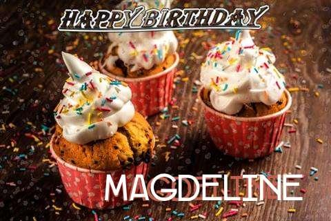 Happy Birthday Magdeline Cake Image