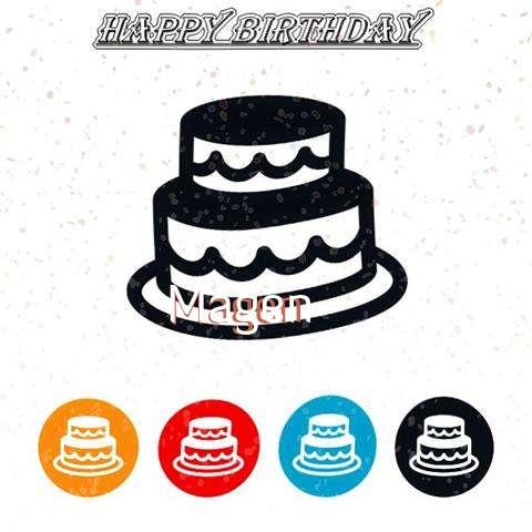 Happy Birthday Magen Cake Image