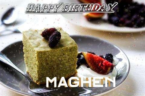 Happy Birthday Maghen Cake Image