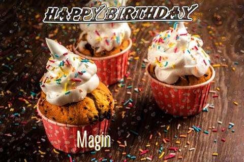 Happy Birthday Magin Cake Image