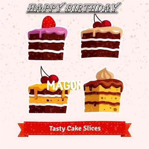 Happy Birthday Magon Cake Image