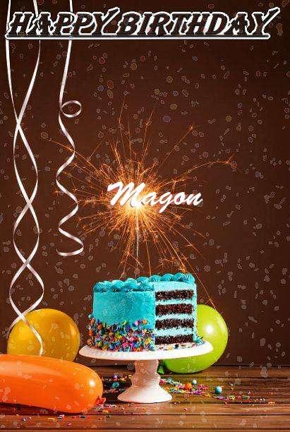 Happy Birthday Cake for Magon
