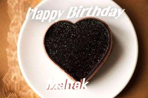 Happy Birthday Mahak Cake Image