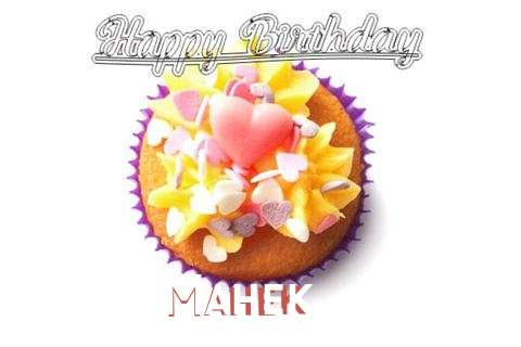 Happy Birthday Mahek Cake Image