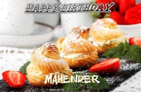 Happy Birthday Mahender Cake Image