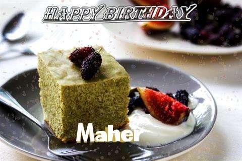 Happy Birthday Maher Cake Image