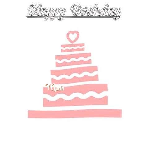 Happy Birthday Mahii Cake Image