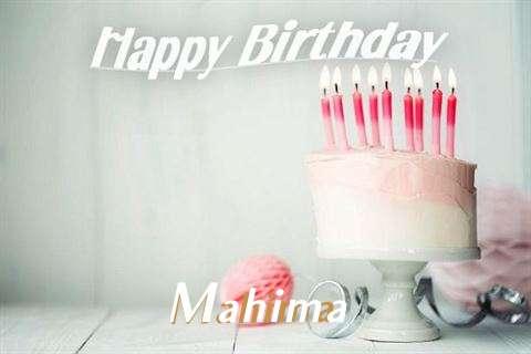 Happy Birthday Mahima Cake Image