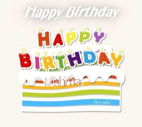 Happy Birthday Wishes for Mahima
