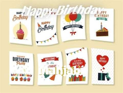 Happy Birthday Cake for Mahjabi