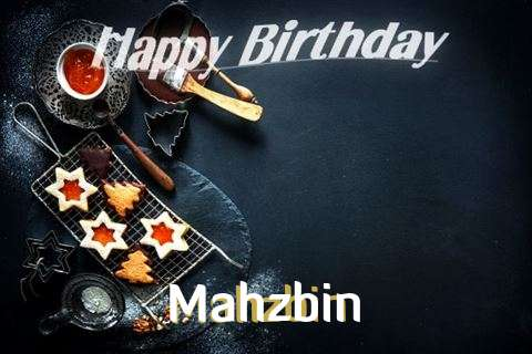 Happy Birthday Mahzbin Cake Image