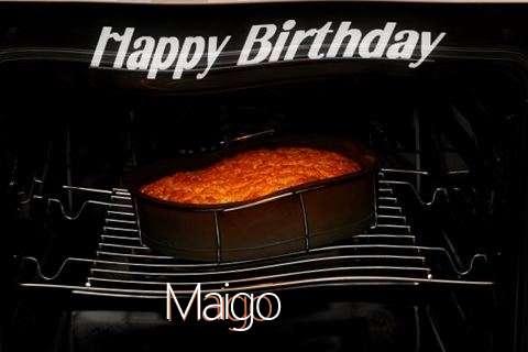 Happy Birthday Maigo Cake Image