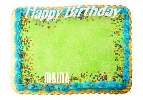 Happy Birthday Maina Cake Image