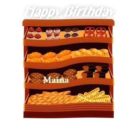Happy Birthday Cake for Maina
