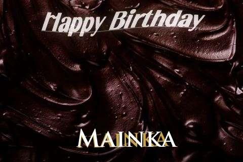 Happy Birthday Mainka Cake Image