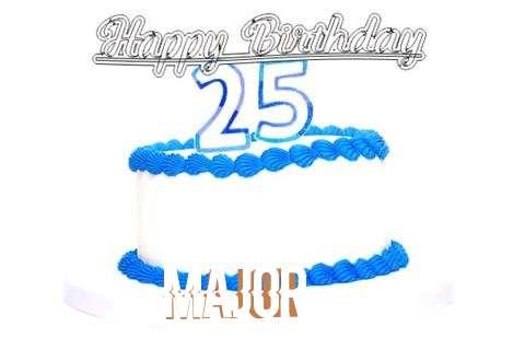 Happy Birthday Major Cake Image