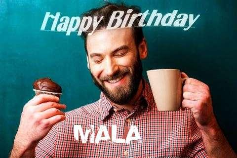 Happy Birthday Mala Cake Image