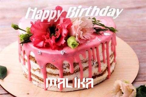 Happy Birthday Cake for Malika