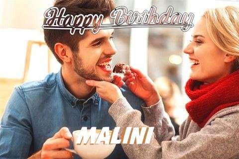 Happy Birthday Malini Cake Image