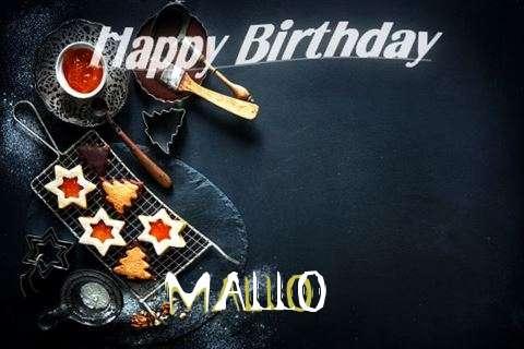 Happy Birthday Mallo Cake Image