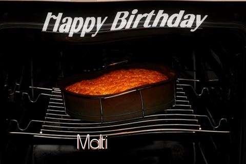 Happy Birthday Malti Cake Image