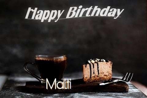Happy Birthday Wishes for Malti