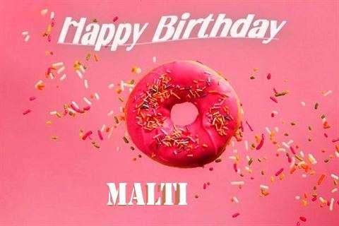 Happy Birthday Cake for Malti