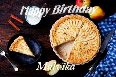 Birthday Wishes with Images of Malvika