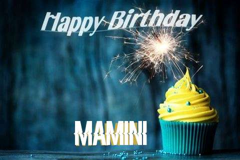 Happy Birthday Mamini Cake Image