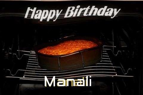 Happy Birthday Manali Cake Image